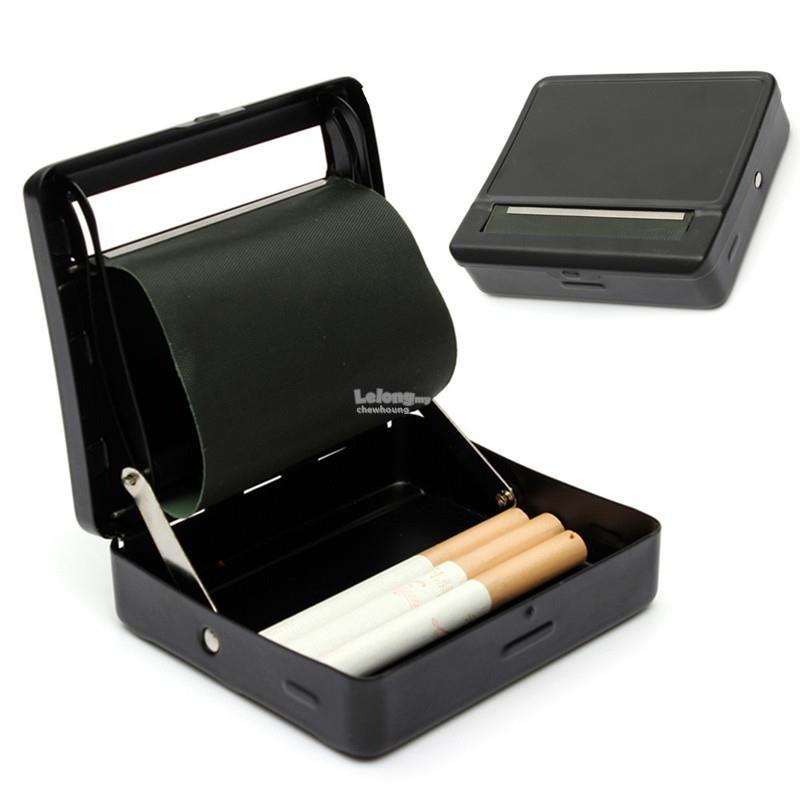 Cigarette Tobacco Roller Rolling Machine Box Case-Black